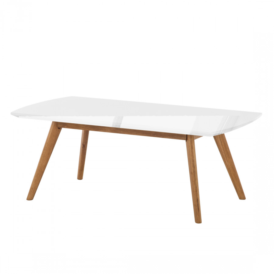 Table basse lindstr m blanc brillant - Table basse blanc brillant ...