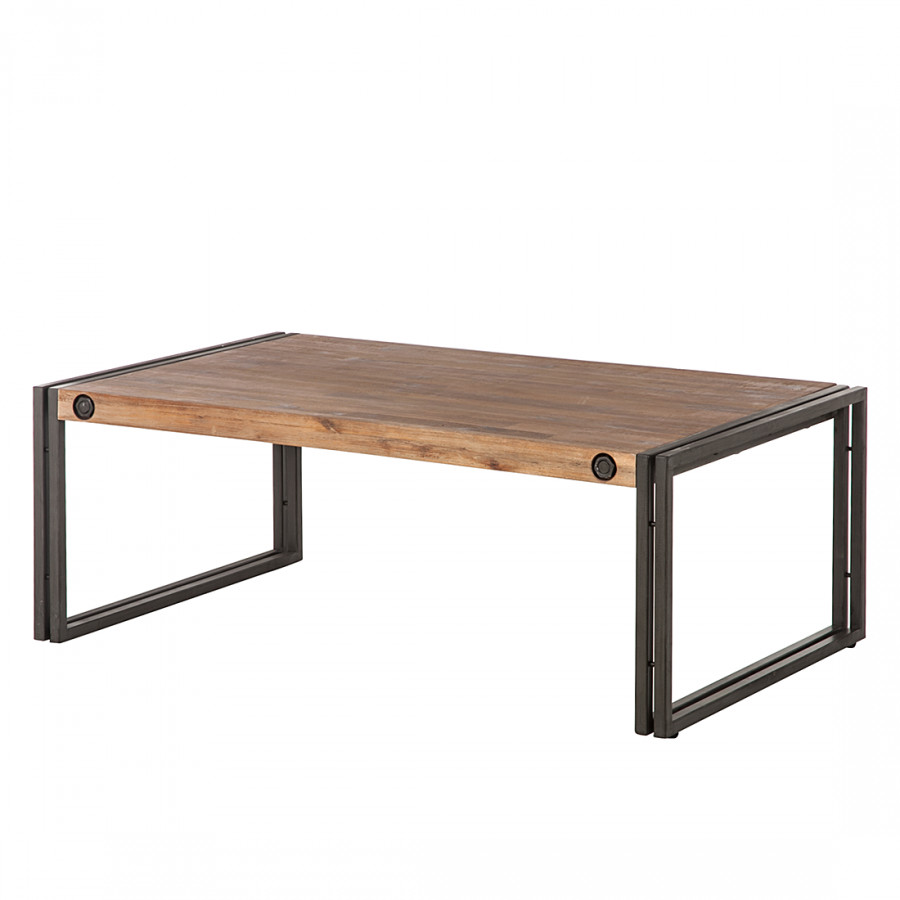 Table basse manchester bois m tal - Table salon bois metal ...
