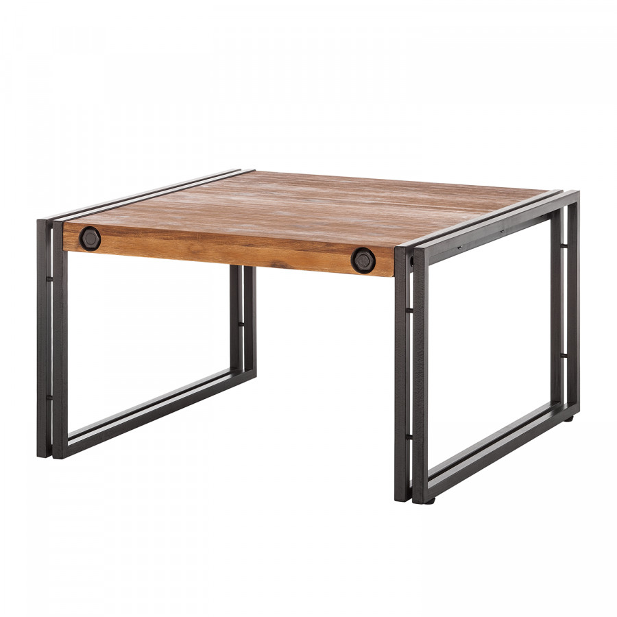 Table basse manchester ii acacia massif m tal for Table basse acacia massif