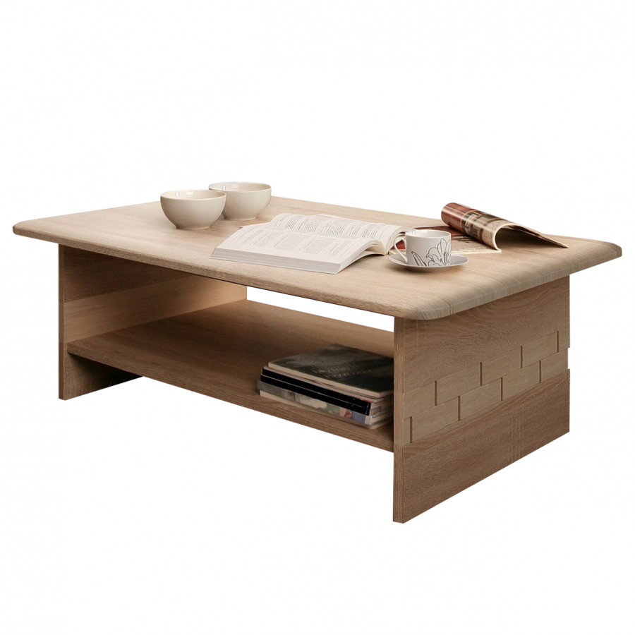 Table basse marinello imitation ch ne de sonoma for Table basse sonoma