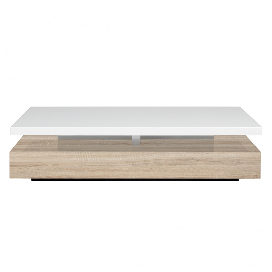 Table basse juniper blanc brillant - Table basse blanc brillant ...
