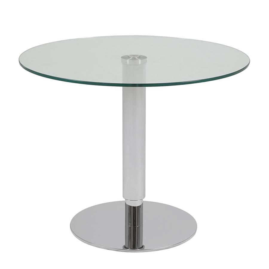 Table basse sortellino hauteur r glable acier poli - Table basse reglable hauteur ...