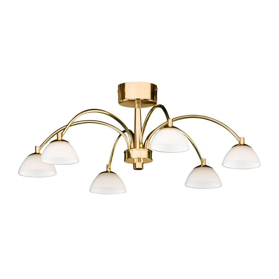 plafonnier julie hn m tal verre dor 6 ampoules. Black Bedroom Furniture Sets. Home Design Ideas