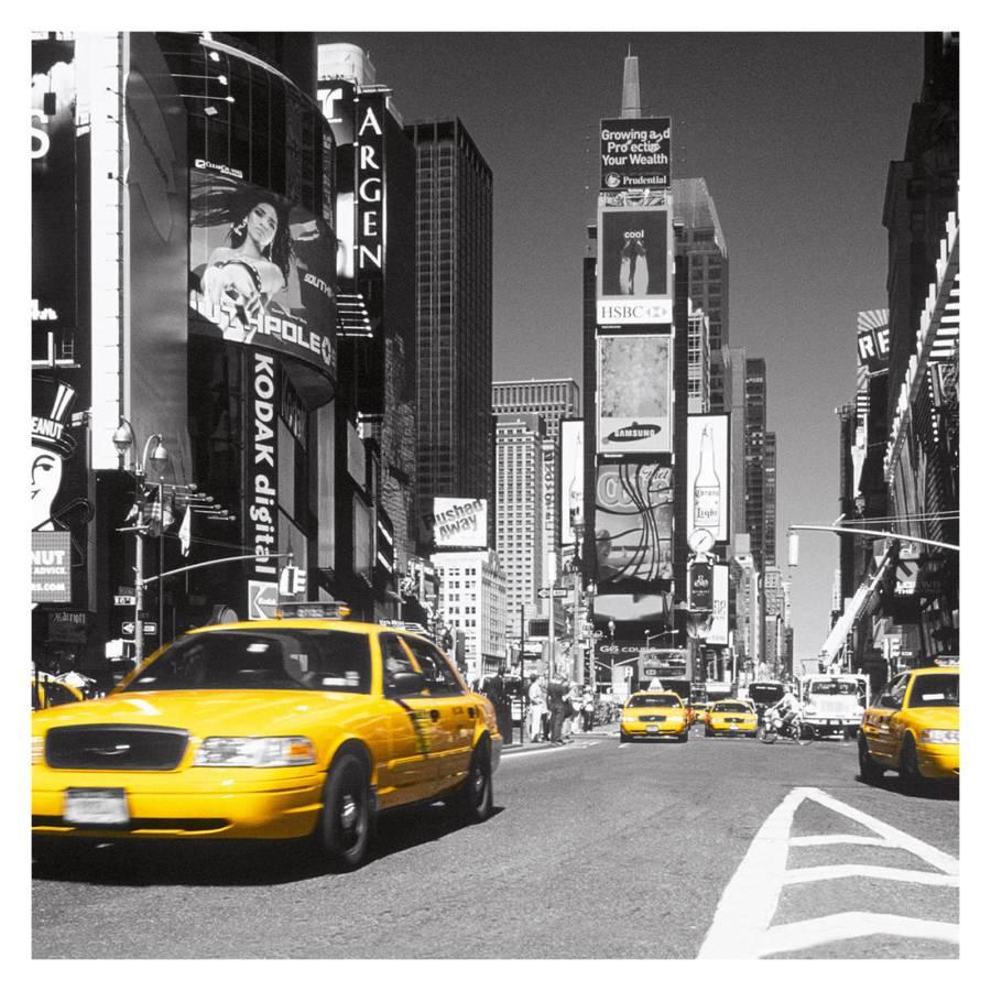 Deco Block Times Square Yellow Cab - 90 x 90 cm
