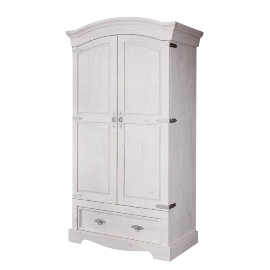 armoire d 39 entr e lucia 2 portes pin massif. Black Bedroom Furniture Sets. Home Design Ideas