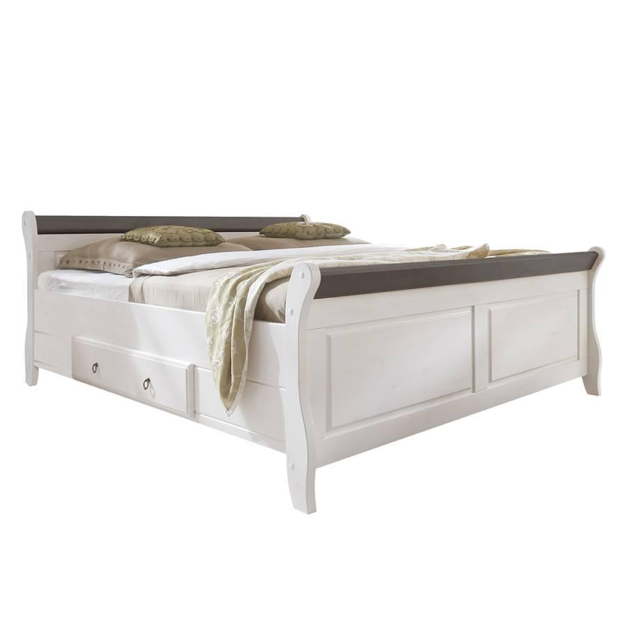Landhaus classic bedframe voor een klassiek rustieke woning - Massief houten platform bed ...