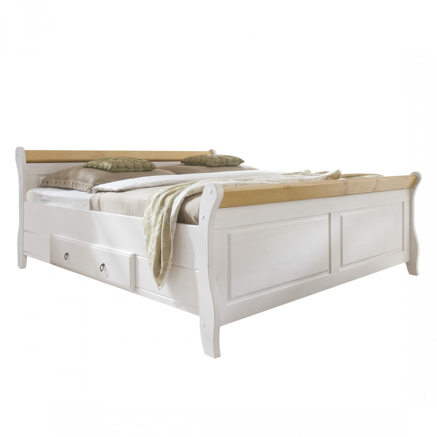 Massief houten bed cenan - Massief houten platform bed ...