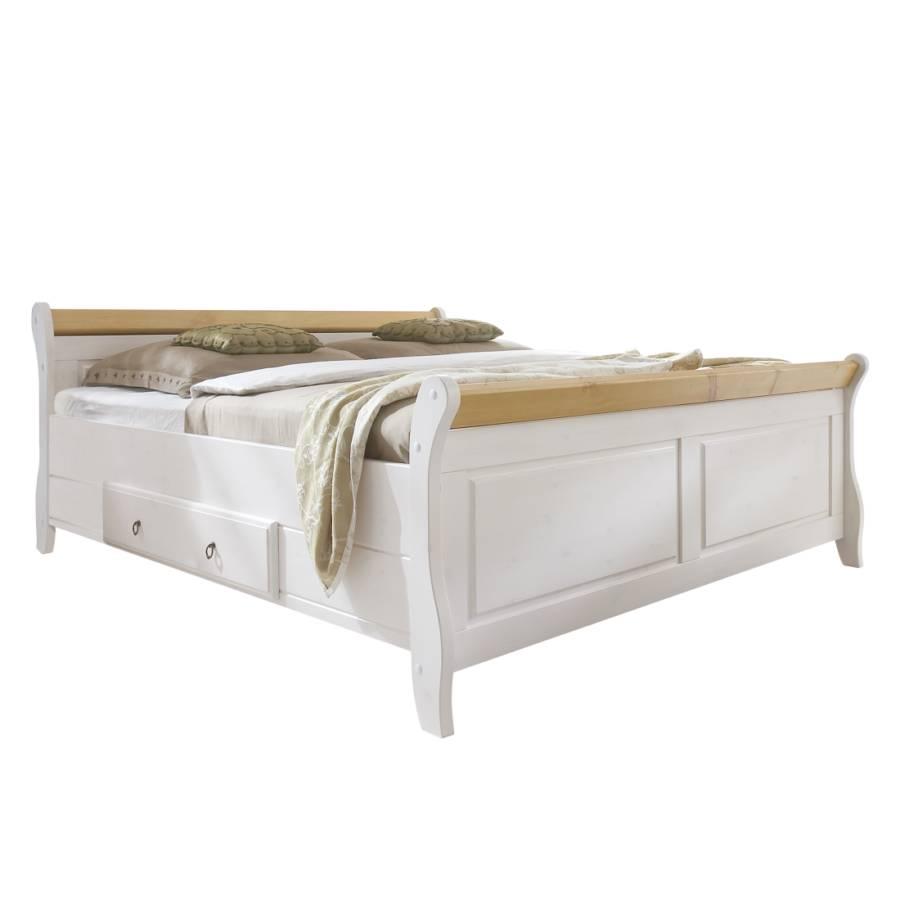 Massief houten bed cenan - Houten bed ...