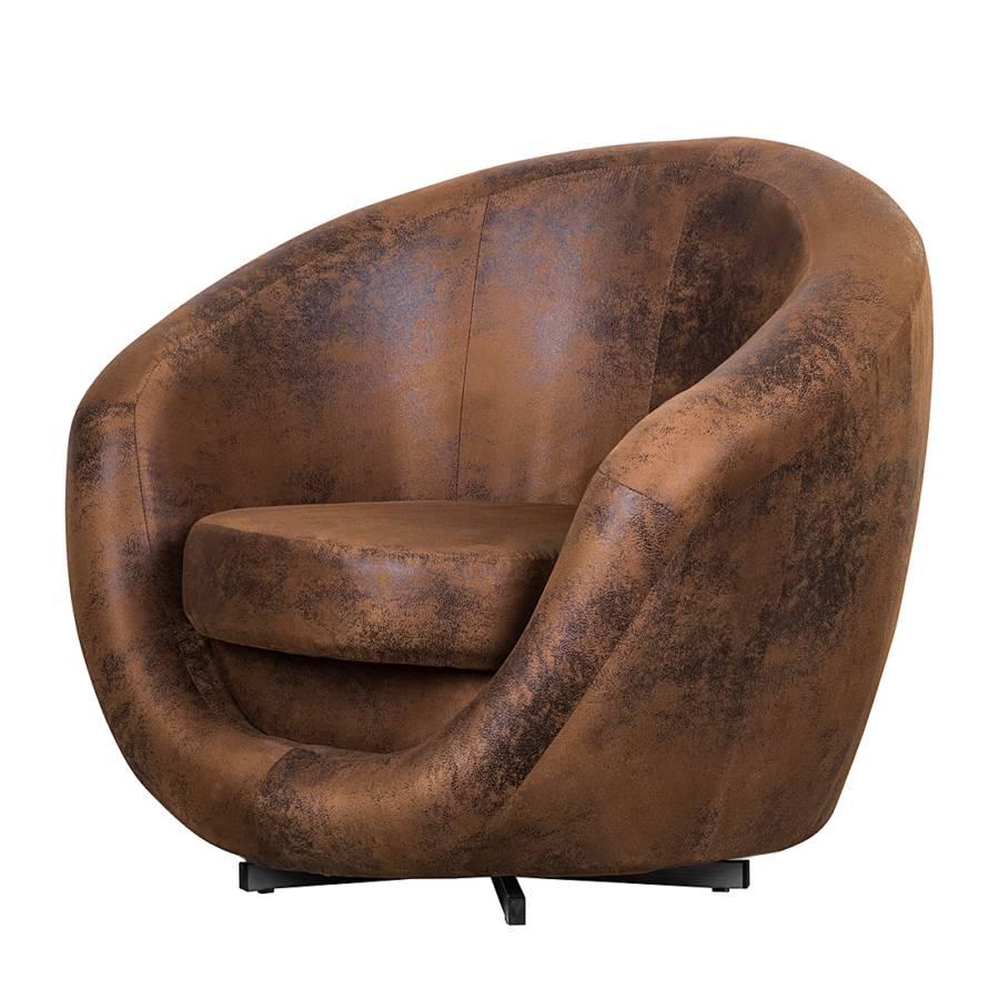 drehsessel marvin antiklederoptik braun home24. Black Bedroom Furniture Sets. Home Design Ideas