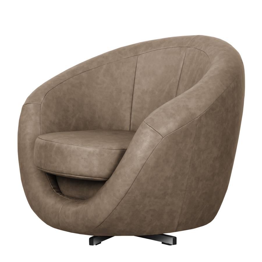 fauteuil pivotant marvin aspect vieux cuir. Black Bedroom Furniture Sets. Home Design Ideas