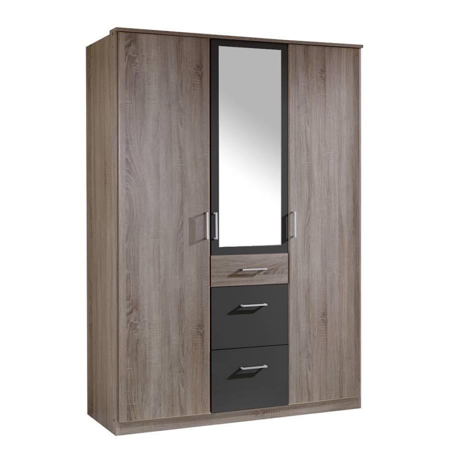 dreht renschrank click mit spiegel montana eiche dekor lava home24. Black Bedroom Furniture Sets. Home Design Ideas