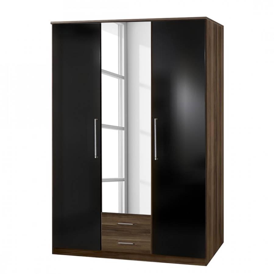 dreht renschrank gamma mit spiegel perlglanz black franz nussbaum home24. Black Bedroom Furniture Sets. Home Design Ideas