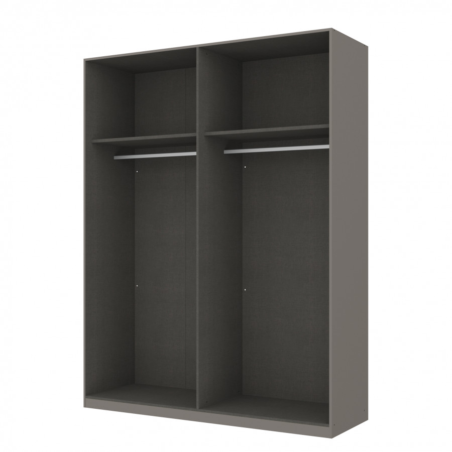kleiderschrank sk p graphit offen home24. Black Bedroom Furniture Sets. Home Design Ideas