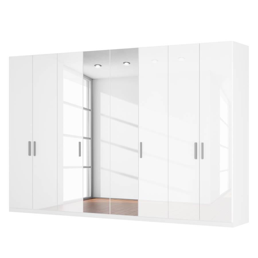 dreht renschrank sk p i hochglanz wei kristallspiegel. Black Bedroom Furniture Sets. Home Design Ideas