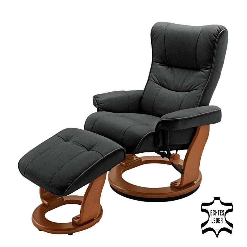 fauteuil relaxation westerwald cuir noir. Black Bedroom Furniture Sets. Home Design Ideas