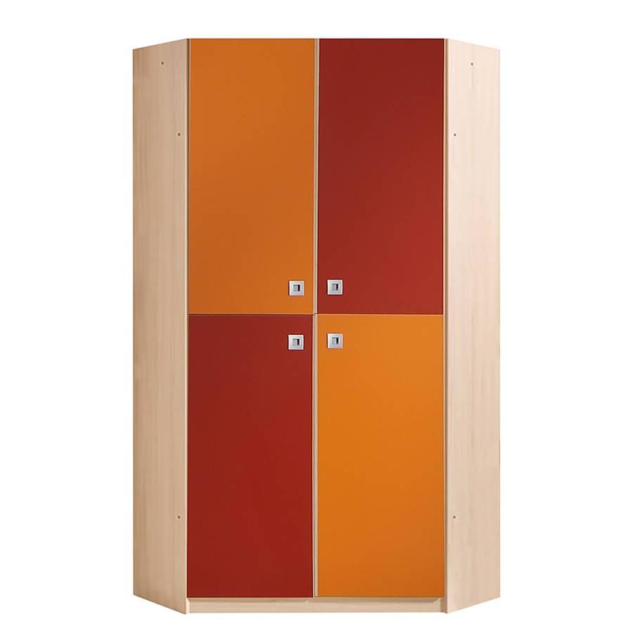 eckschrank sunny ahorn orange rot. Black Bedroom Furniture Sets. Home Design Ideas