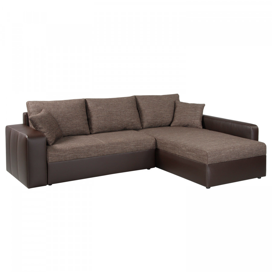 Canap d 39 angle aarhus ii convertible imitation cuir for Service a table a droite ou a gauche