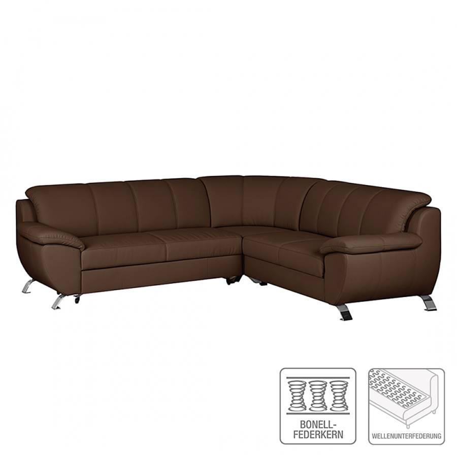 Sofa mit schlaffunktion von nuovoform bei home24 kaufen for Ecksofa braun kunstleder