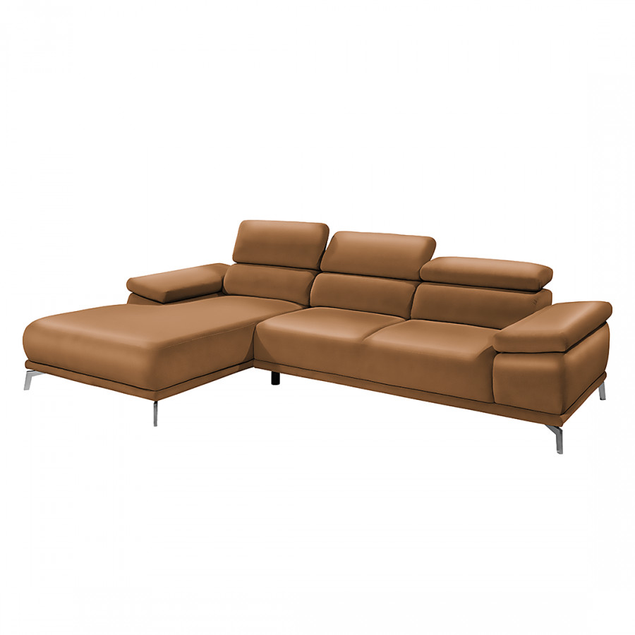 Ecksofa mit longchair von collectione minetti bei home24 for Ecksofa echtleder