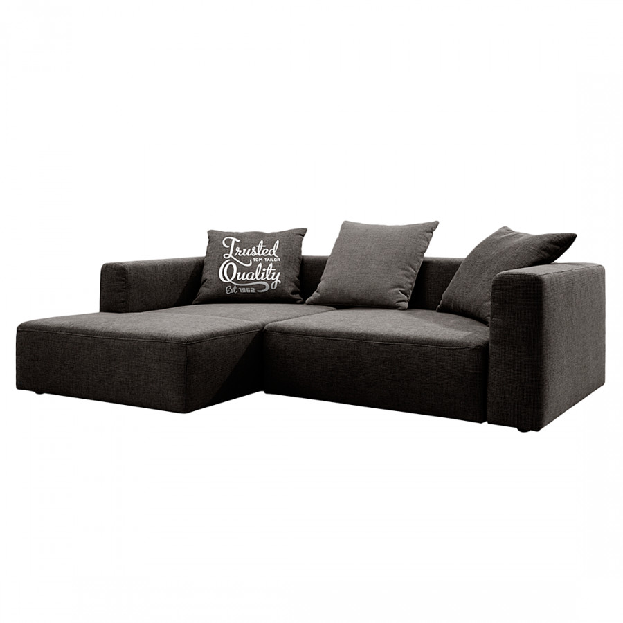 ecksofa heaven casual webstoff braun home24. Black Bedroom Furniture Sets. Home Design Ideas
