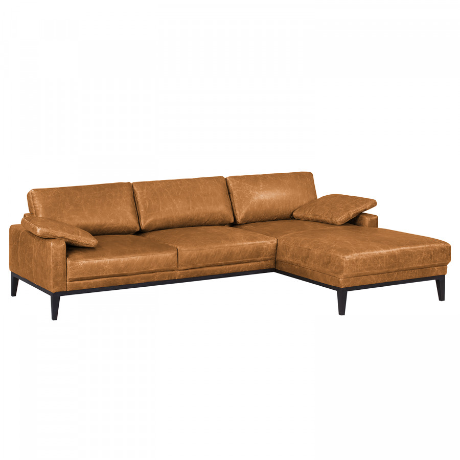 ecksofa horley echtleder. Black Bedroom Furniture Sets. Home Design Ideas