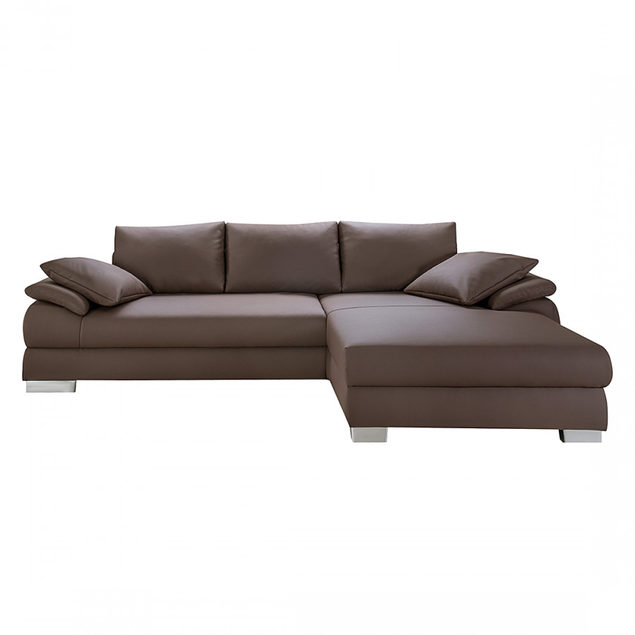 Loftscape sofa mit schlaffunktion f r ein modernes for Ecksofa braun kunstleder