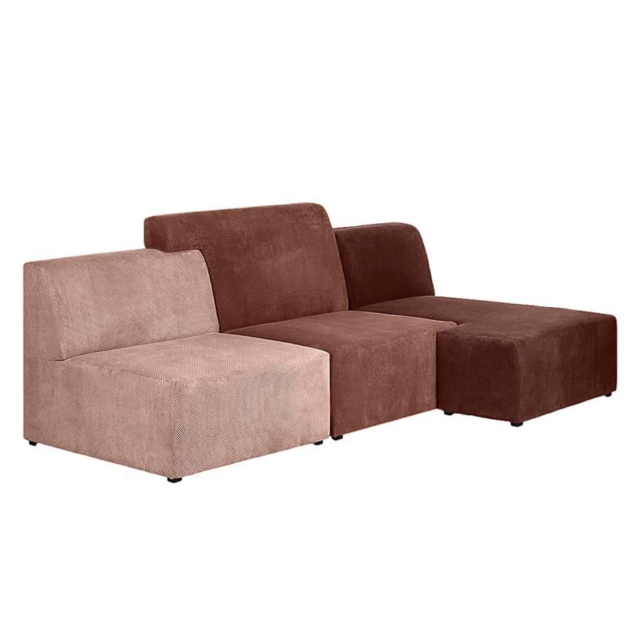Roomscape ecksofa mit longchair f r ein modernes zuhause for Ecksofa braun stoff