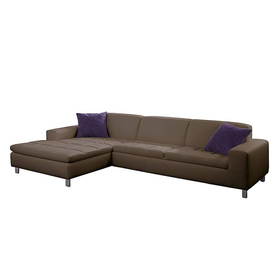 ecksofa john kunstleder graubraun recamiere links. Black Bedroom Furniture Sets. Home Design Ideas