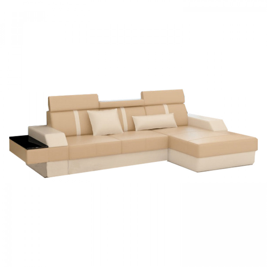 ecksofa lemansi kunstleder l form beige wei home24. Black Bedroom Furniture Sets. Home Design Ideas
