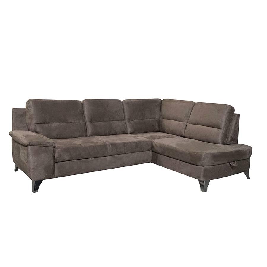 Sofa mit schlaffunktion von cotta bei home24 bestellen for Ecksofa braun mit schlaffunktion