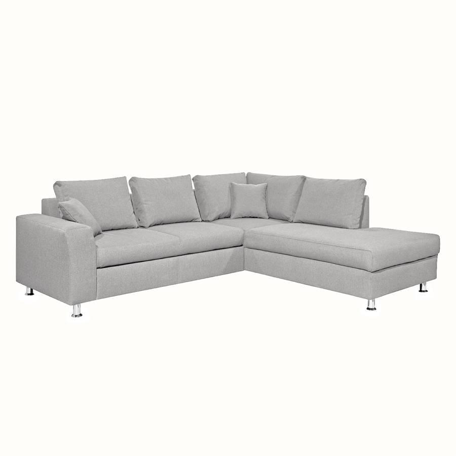 ecksofa mauri strukturstoff home24. Black Bedroom Furniture Sets. Home Design Ideas
