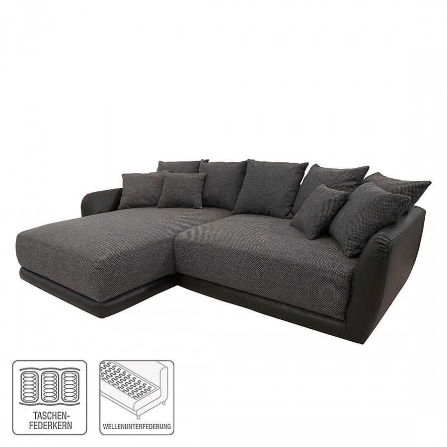 roomscape ecksofa mit longchair f r ein modernes heim home24. Black Bedroom Furniture Sets. Home Design Ideas