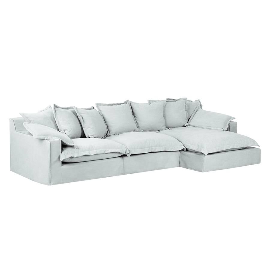 canap d 39 angle rouen tissu beige m ridienne droite vue de face. Black Bedroom Furniture Sets. Home Design Ideas