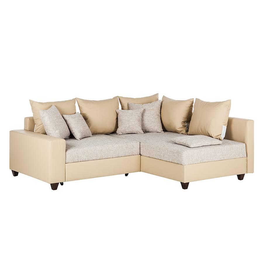 Kunstleder ecksofa interesting ecksofa sofa beige taupe for Eckcouch kunstleder