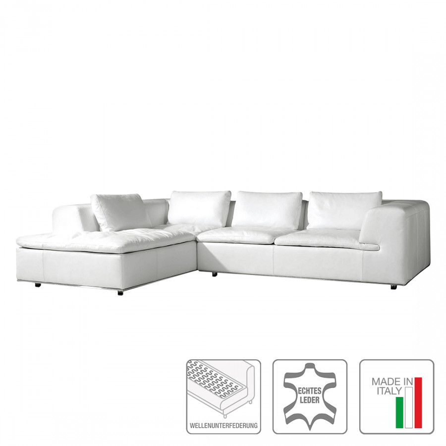 jetzt bei home24 ecksofa mit longchair von trend italiano. Black Bedroom Furniture Sets. Home Design Ideas