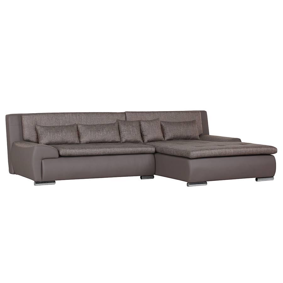 Jetzt bei home24 sofa mit schlaffunktion von roomscape for Ecksofa braun kunstleder
