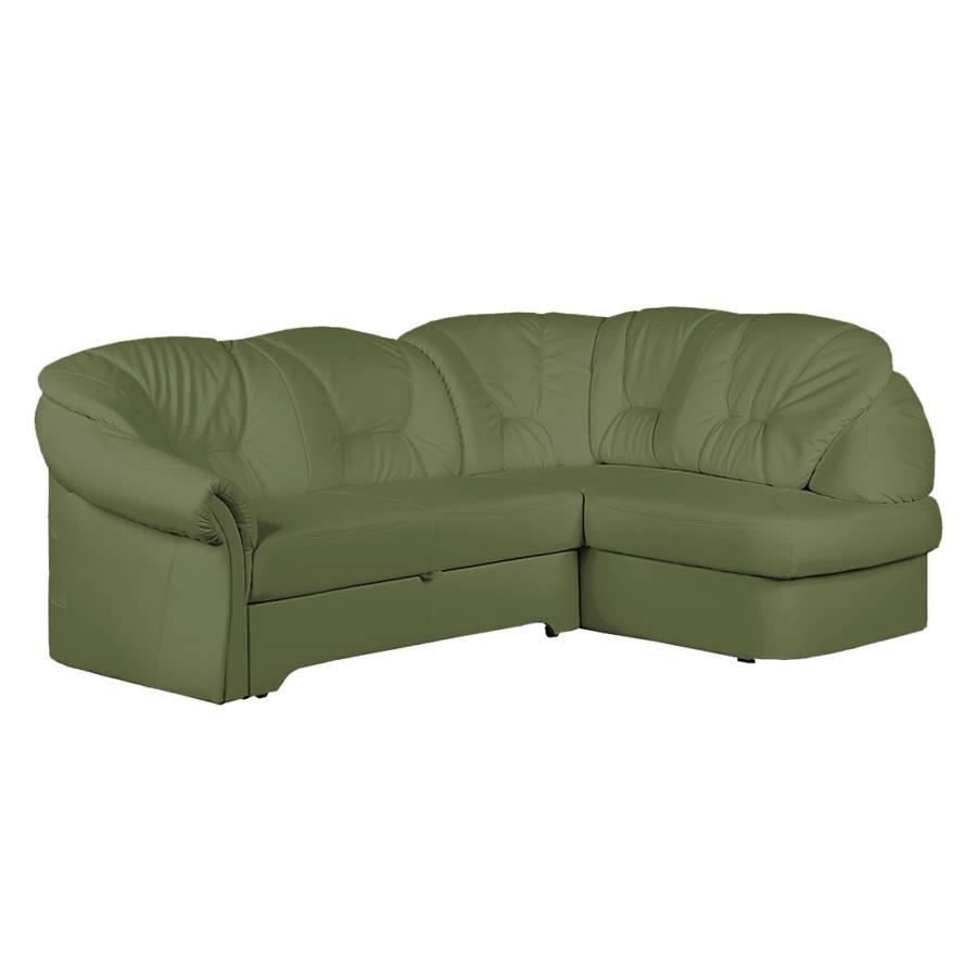 Canap d 39 angle thale imitation cuir vert - Canape imitation cuir ...