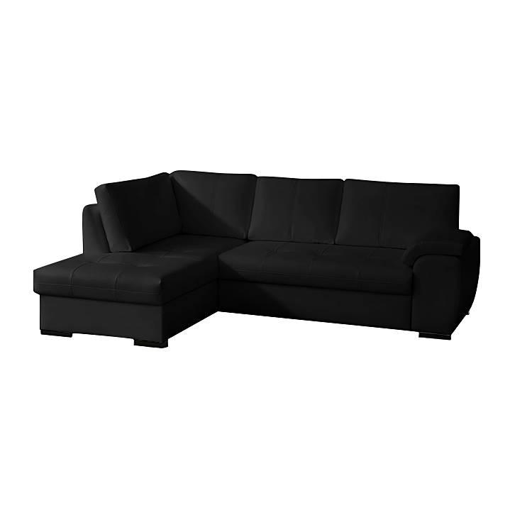 Sofa mit schlaffunktion von nuovoform bei home24 bestellen for Ecksofa schwarz kunstleder
