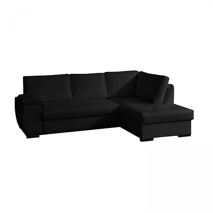 ecksofa kunstleder schwarz ecksofa schwarz kunstleder liegefunktion ecksofas ecksofa nizza. Black Bedroom Furniture Sets. Home Design Ideas