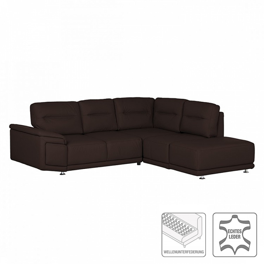 ecksofa torino mit schlaffunktion echtleder braun. Black Bedroom Furniture Sets. Home Design Ideas