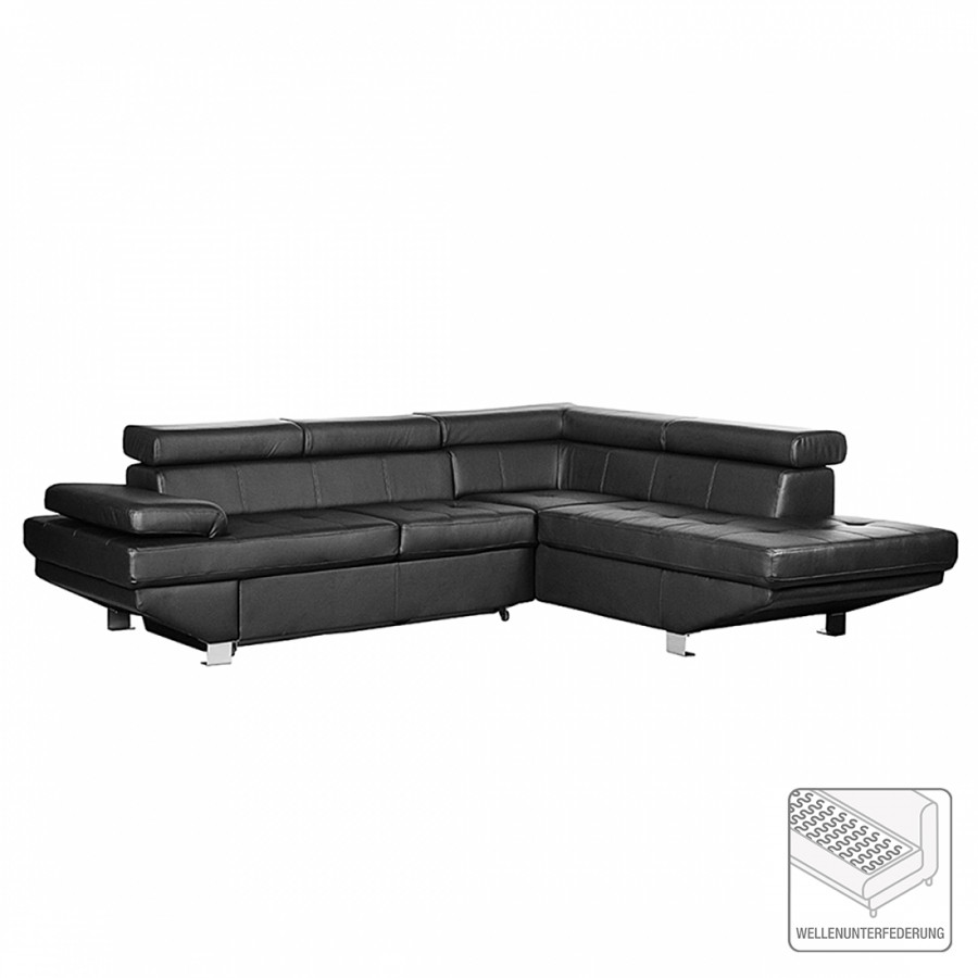 ecksofa valento kunstleder schwarz home24. Black Bedroom Furniture Sets. Home Design Ideas