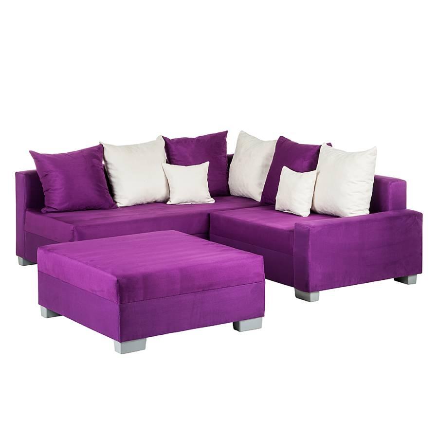 Canap d angle convertible venus violet - Canape convertible violet ...