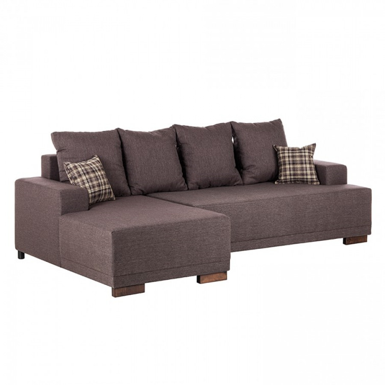 Fredriks sofa mit schlaffunktion f r ein modern for Ecksofa dunkelbraun
