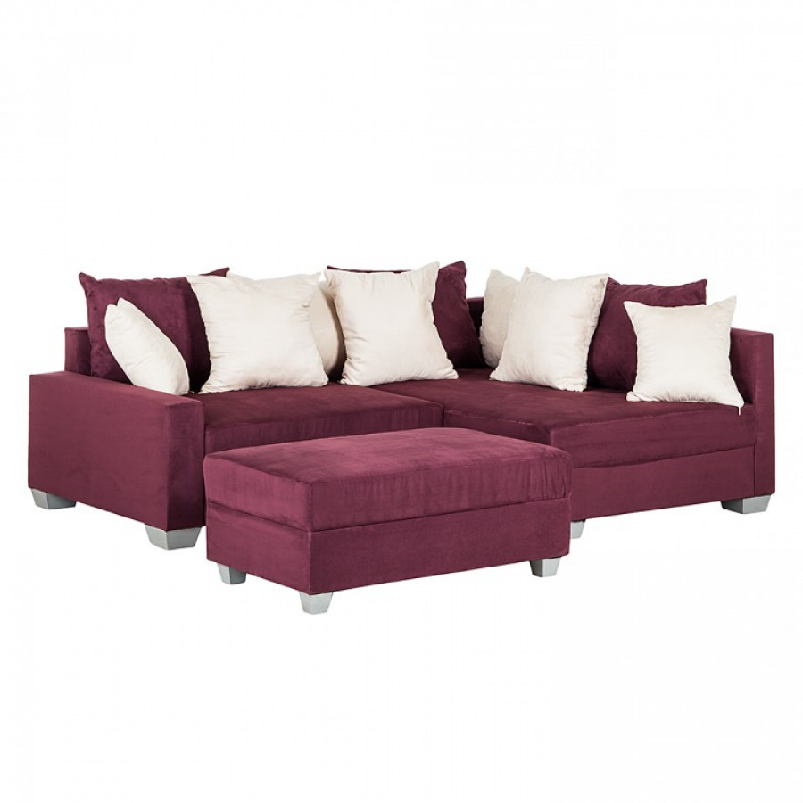 ecksofa venus microfaser aubergine home24. Black Bedroom Furniture Sets. Home Design Ideas