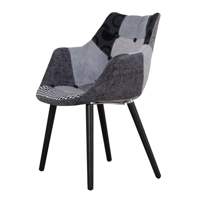 Chaise de salle manger eleven patchwork gris - Chaise eleven patchwork colors ...
