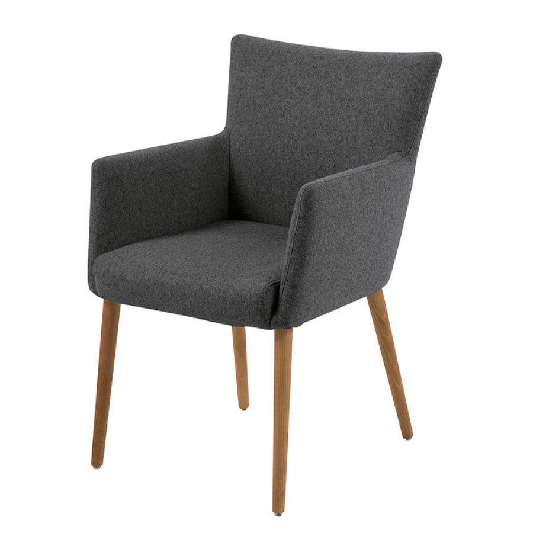 Chaise de salle manger peter gris fonc - Chaise salle a manger gris ...