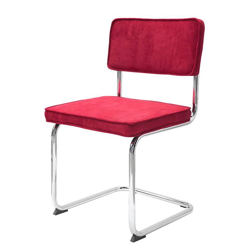 Chaise de salle manger rainbow tissu c tel rouge for Chaise de salle a manger rouge