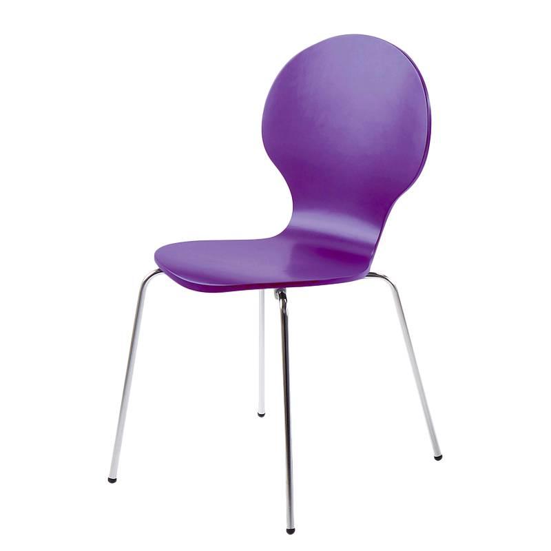 Chaise de salle manger papillon violet for Chaise salle a manger home24