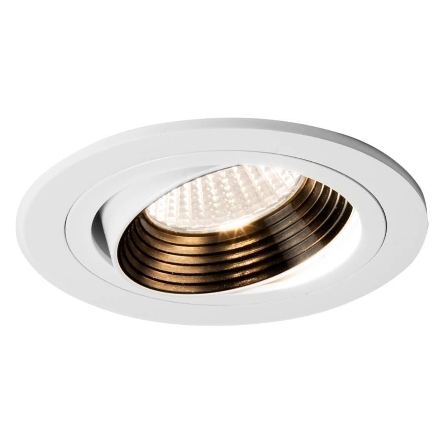 luminaire encastr aprilia 1 ampoule acier blanc. Black Bedroom Furniture Sets. Home Design Ideas