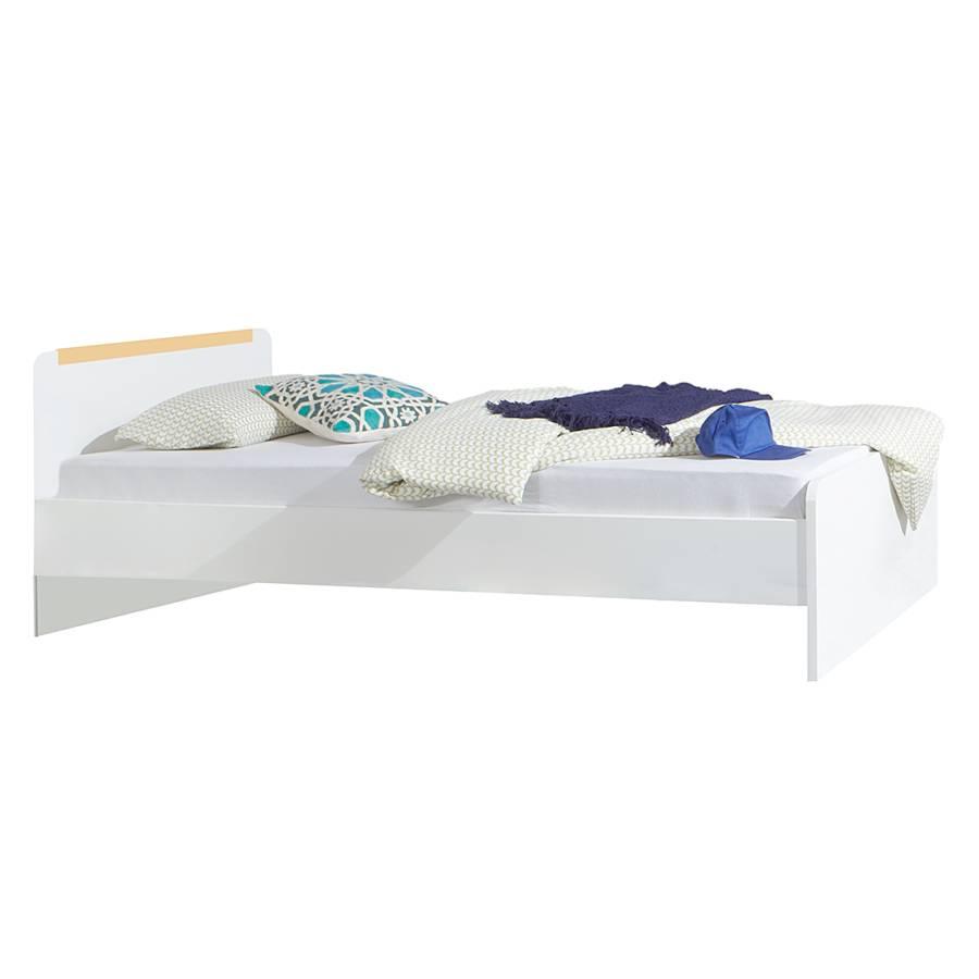 lit simple bibo blanc alpin orange. Black Bedroom Furniture Sets. Home Design Ideas